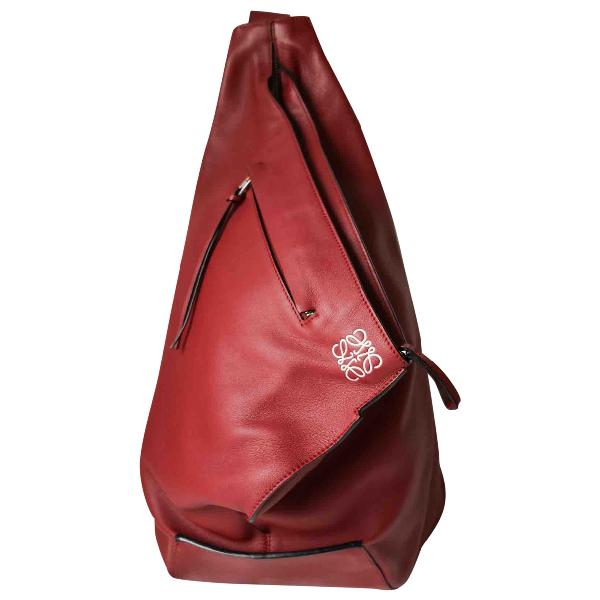 Loewe Anton Red Leather Backpack
