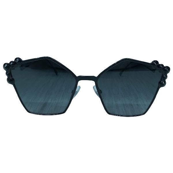 Fendi Black Metal Sunglasses
