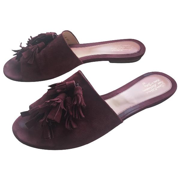 Santoni Brown Suede Sandals
