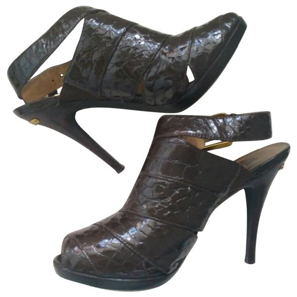 Michael Kors Brown Patent Leather Heels