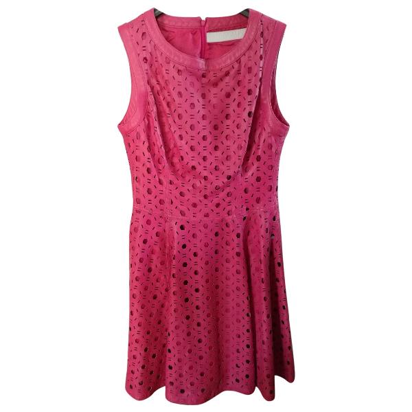 Drome Pink Leather Dress