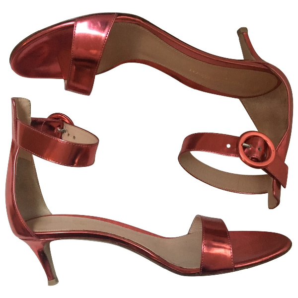 Gianvito Rossi Pink Patent Leather Sandals
