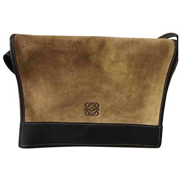 Loewe Camel Suede Handbag