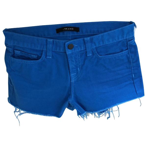 J Brand Blue Cotton Shorts
