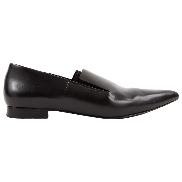 Alexander Wang Black Leather Flats