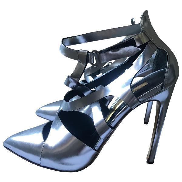 Rupert Sanderson Silver Patent Leather Heels
