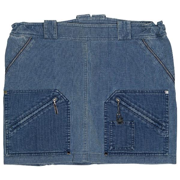Dior Blue Cotton Skirt