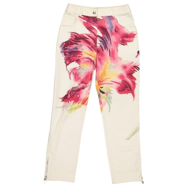 Dior Ecru Cotton Trousers