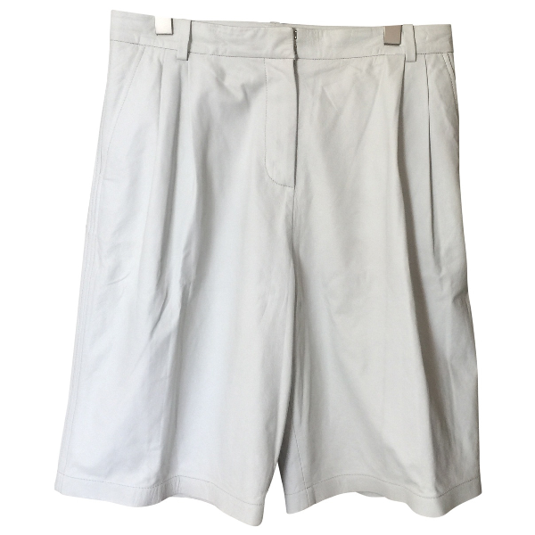 Alexander Wang T White Leather Shorts