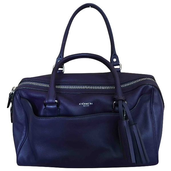 Coach Purple Leather Handbag