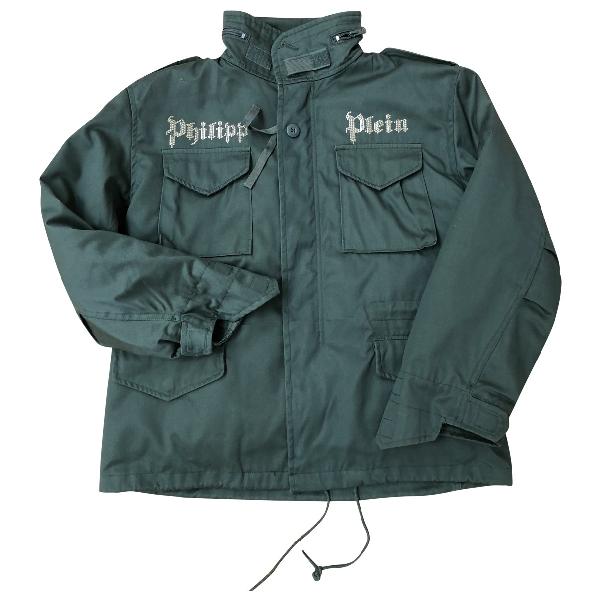 Philipp Plein Green Cotton Jacket