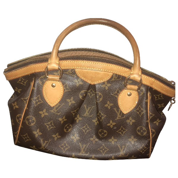 Louis Vuitton Tivoli Brown Cloth Handbag