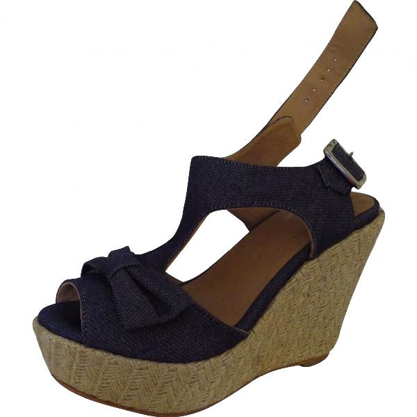 Claudie Pierlot Blue Cloth Sandals