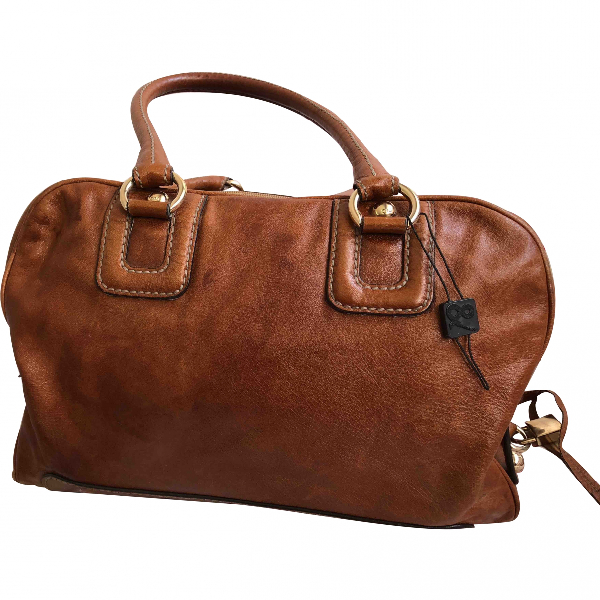 Dolce & Gabbana Camel Leather Handbag