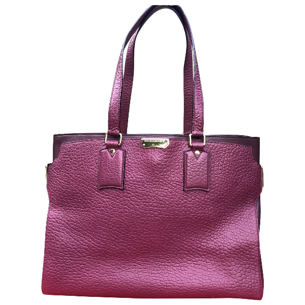 Burberry Purple Leather Handbag