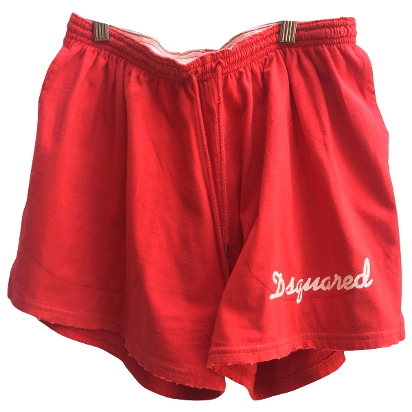 Dsquared2 Red Cotton Shorts