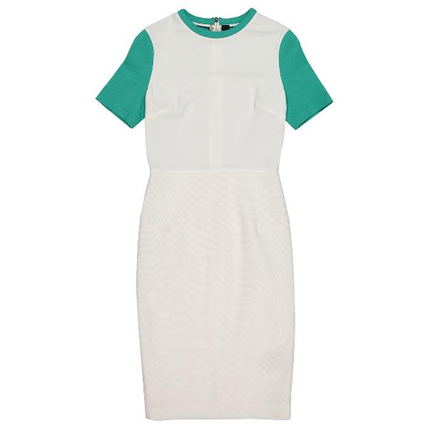 Roland Mouret White Cotton Dress