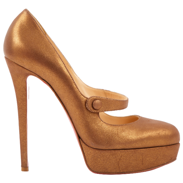 Christian Louboutin Gold Leather Heels
