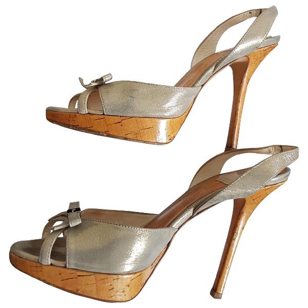 Dior Beige Cloth Sandals