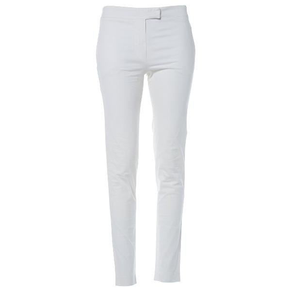 Fendi Ecru Cotton Trousers