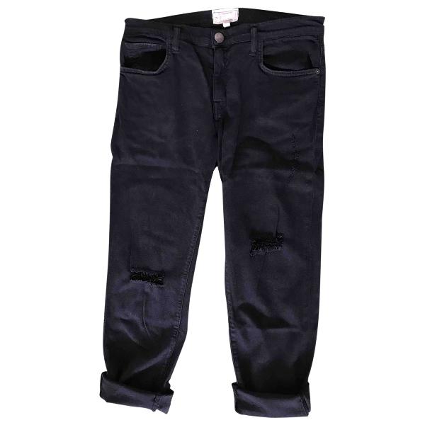 Current Elliott Black Cotton - Elasthane Jeans