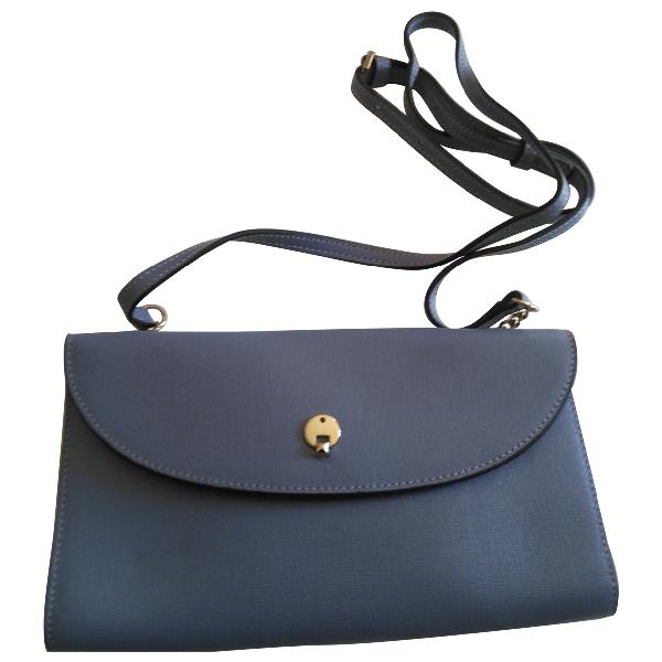 Furla Blue Patent Leather Clutch Bag