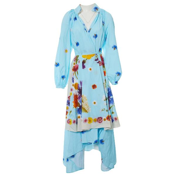 Natasha Zinko Blue Cotton Dress