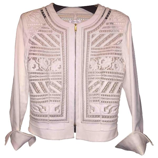 Jitrois White Leather Jacket