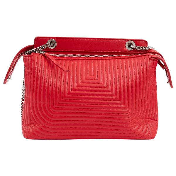 Fendi Dot Com Red Leather Handbag