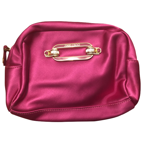 Jimmy Choo Pink Silk Clutch Bag