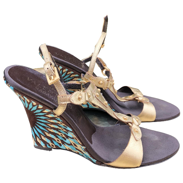 Valentino Garavani Gold Leather Sandals