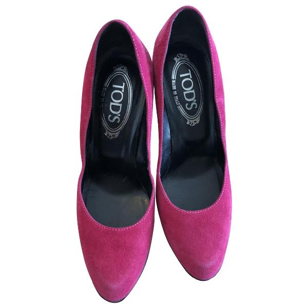 Tod's Pink Suede Heels