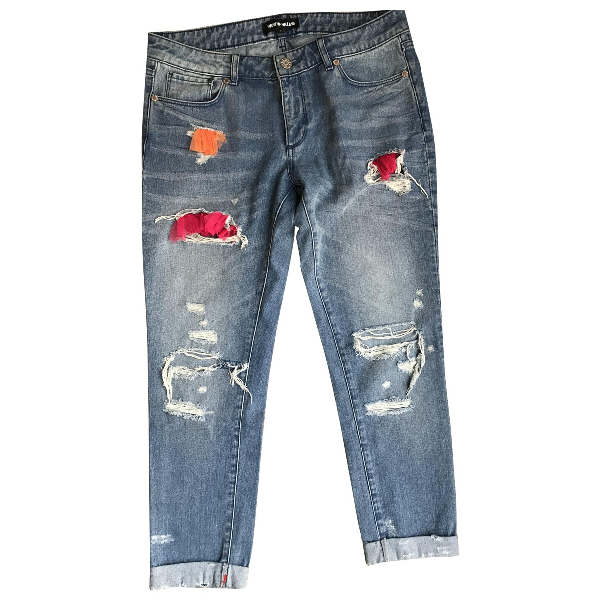 House Of Holland Blue Cotton Jeans