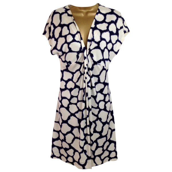 Diane Von Furstenberg Blue Silk Dress