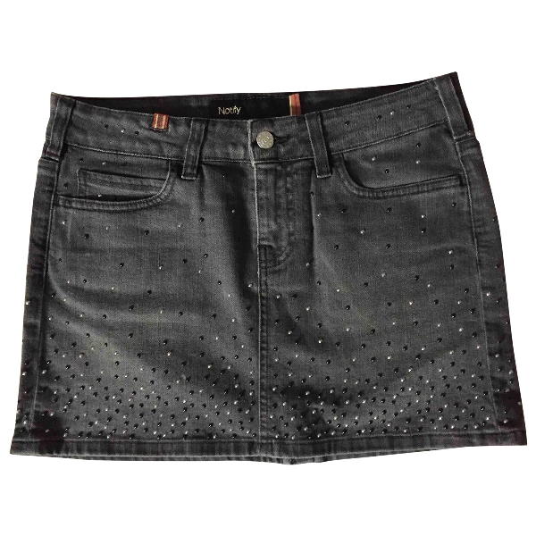 Notify Grey Cotton - Elasthane Skirt