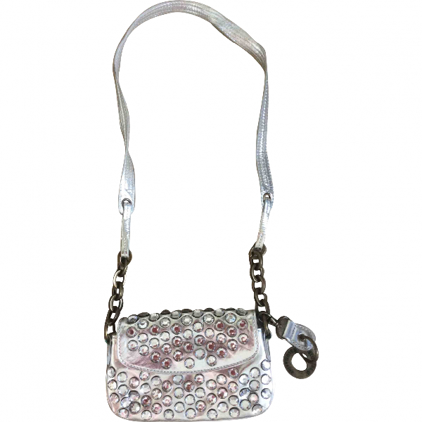 Blumarine Silver Leather Handbag