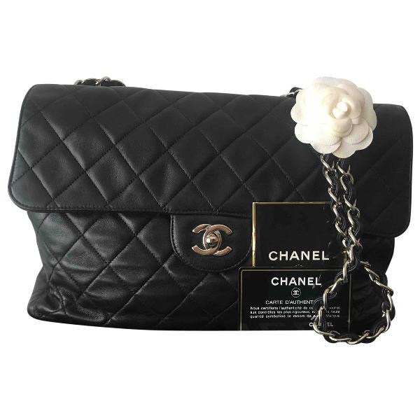Chanel Timeless/classique Black Leather Handbag