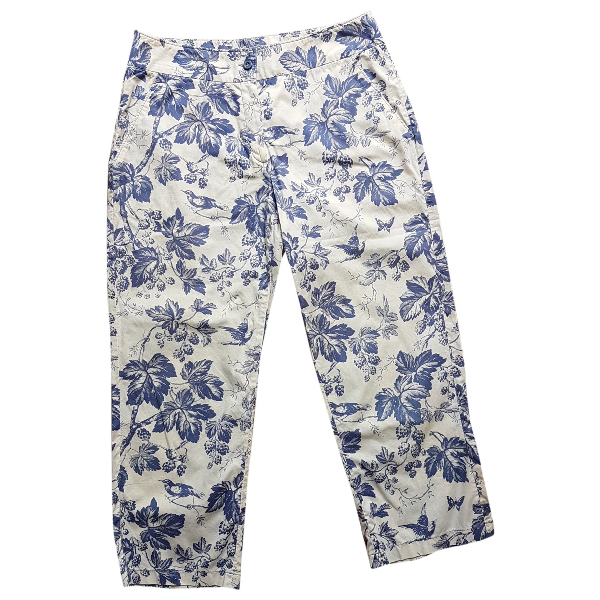 Blumarine Blue Cotton Trousers