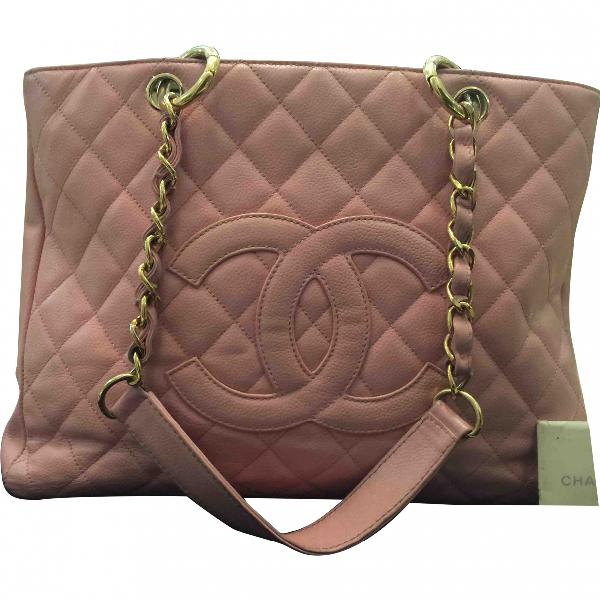 Chanel Grand Shopping Pink Leather Handbag