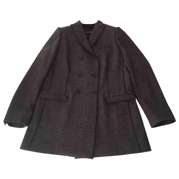 Dolce & Gabbana Grey Wool Coat