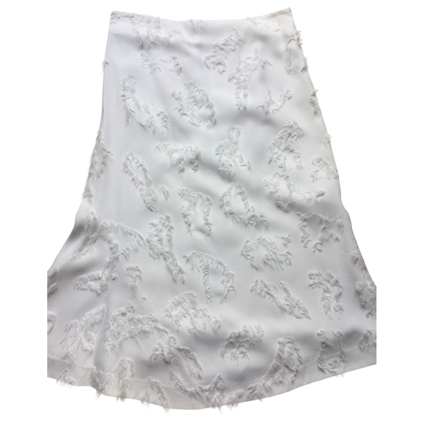 Jil Sander White Skirt