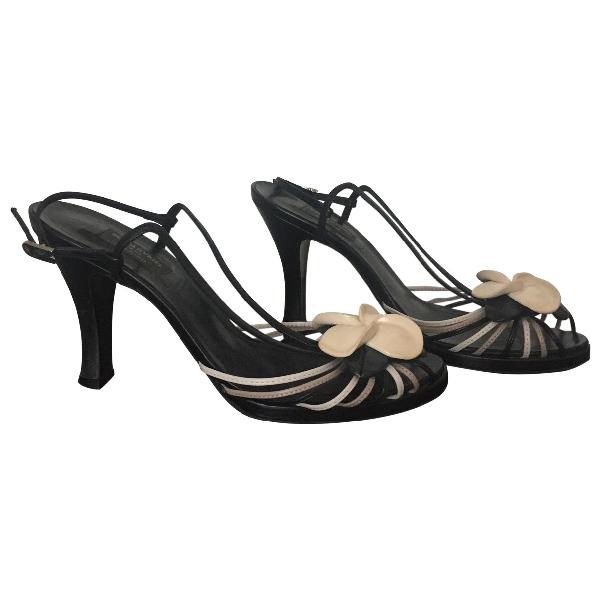 Sonia Rykiel Black Leather Sandals