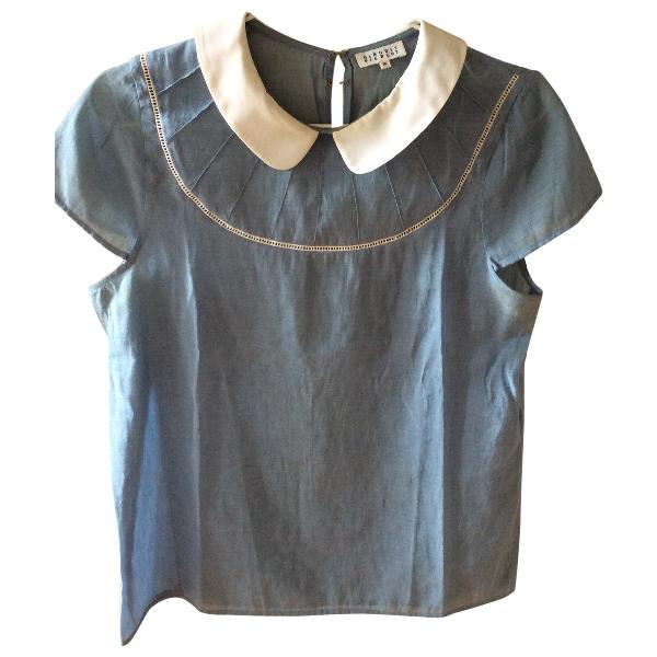 Claudie Pierlot Blue Cotton  Top