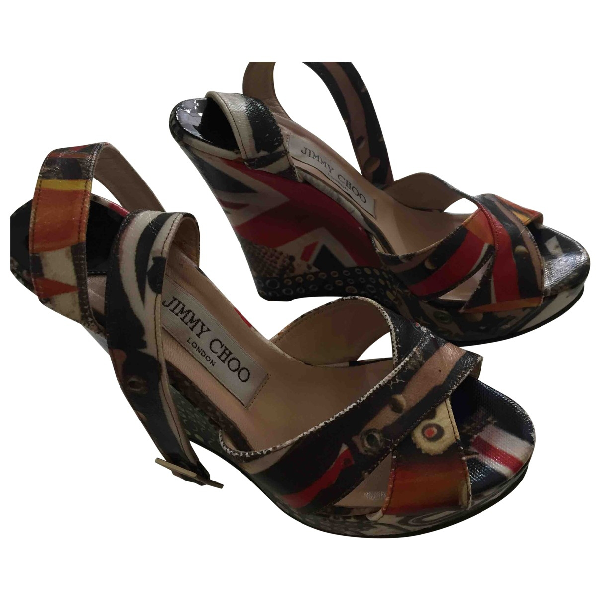 Jimmy Choo Multicolour Cloth Sandals