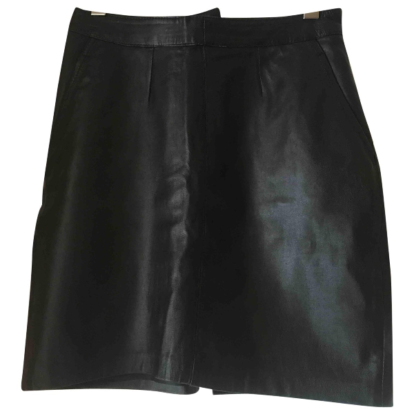 Saint Laurent Black Leather Skirt