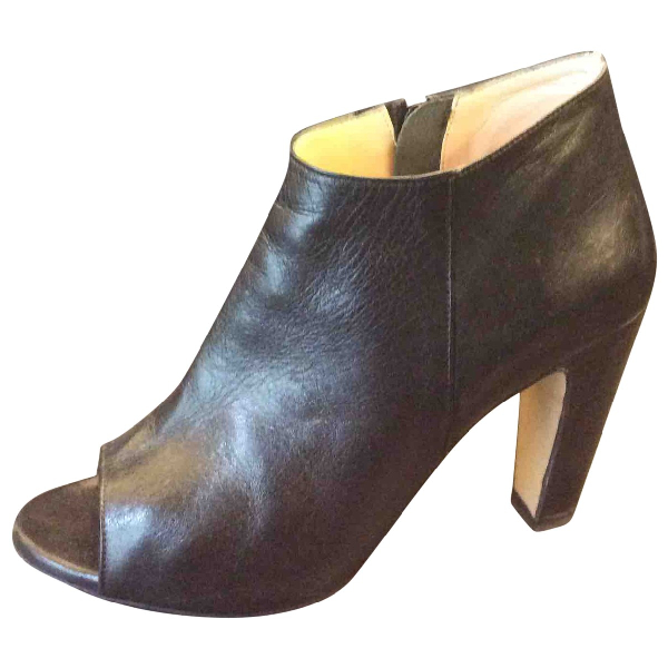 Marco Bologna Black Leather Ankle Boots