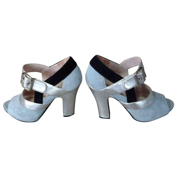 Miu Miu Blue Suede Sandals