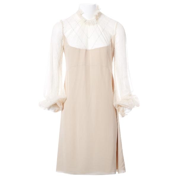 Vilshenko Beige Silk Dress