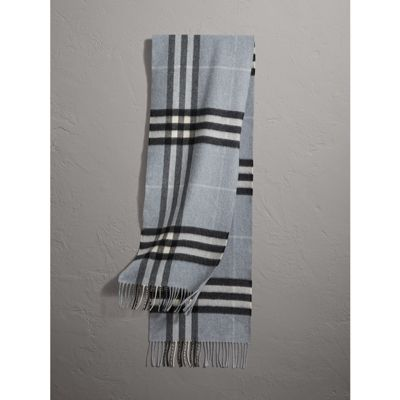 28fb020520853 Burberry The Classic Cashmere Scarf In Check In Dusty Blue | ModeSens