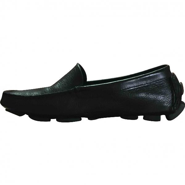 Il Bisonte Black Leather Flats